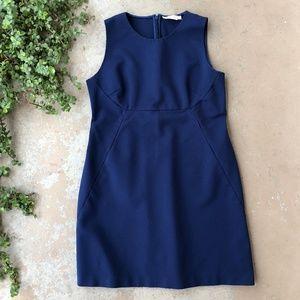 Tory Burch Navy Blue Sleeveless Sheath Dress